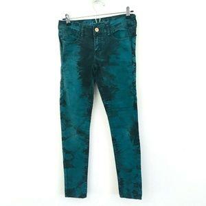 American Eagle Teal Acid Wash Jegging Jeans 4